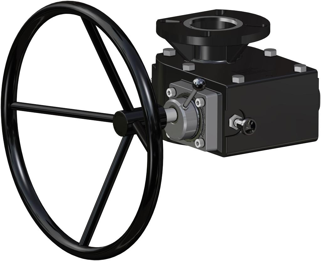 Atuador pneumático de efeito duplo GD em alumínio  - acessórios - OPERADOR MANUAL DE DESBLOQUEIO