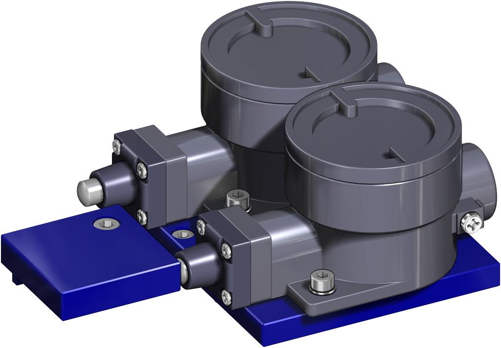 Atuador pneumático de efeito duplo GD em alumínio  - acessórios - INTERRUPTORES DE LIMITE ANTIDEFLAGRANTES II2GD ExdIIC