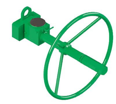 Actuador pneumático de efeito simples GD Heavy Duty aço-carbono - acessórios - CONTROLE MANUAL DE EMERGÊNCIA DESABILITADO PARA ATUADOR DE EFEITO DUPLO