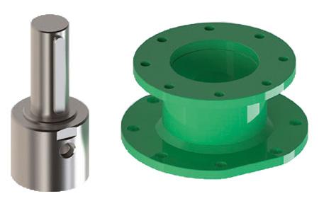 Actuador pneumático de efeito simples GD Heavy Duty aço-carbono - acessórios - Conector - Junta
