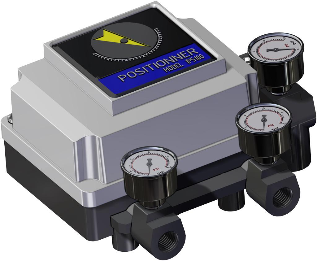 Atuador pneumático de efeito duplo GD em alumínio  - acessórios - POSICIONADOR PNEUMÁTICO